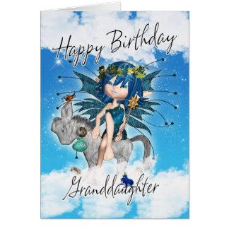 Tarjeta de cumpleaños de la nieta - con la hada