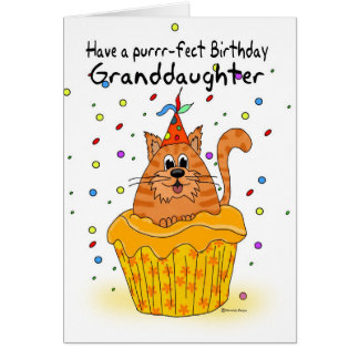 tarjeta de cumpleaños de la nieta con la magdalena