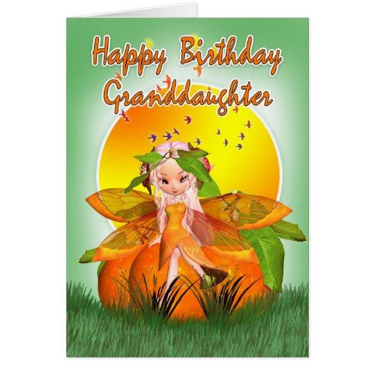 Tarjeta de cumpleaños de la nieta - hada de la