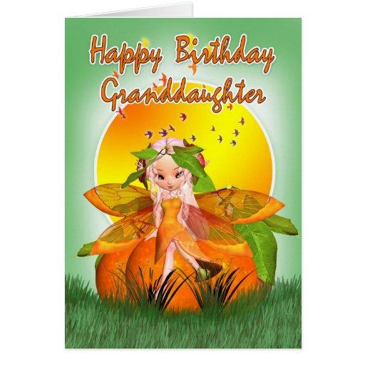 Tarjeta de cumpleaños de la nieta - hada de la fru
