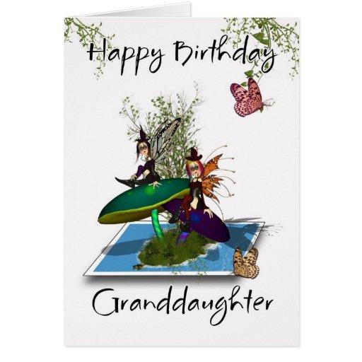 Tarjeta de cumpleaños de la nieta - hadas góticas