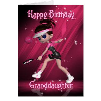 Tarjeta de cumpleaños de la nieta - tenis