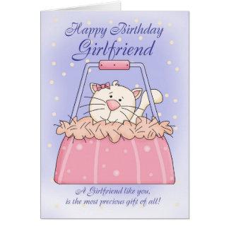 Tarjeta de cumpleaños de la novia - mascota lindo