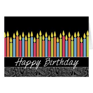 Tarjeta de cumpleaños de la oficina con las velas