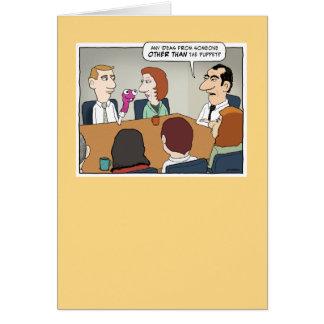 Tarjeta de cumpleaños de la reunión de los asuntos
