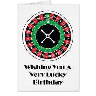 Tarjeta de cumpleaños de la rueda de ruleta