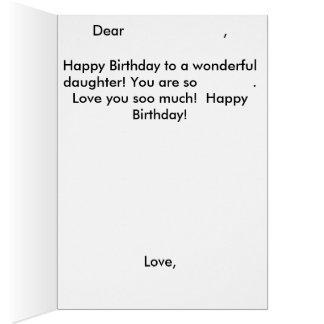 Tarjeta de cumpleaños de la sirena de la hija