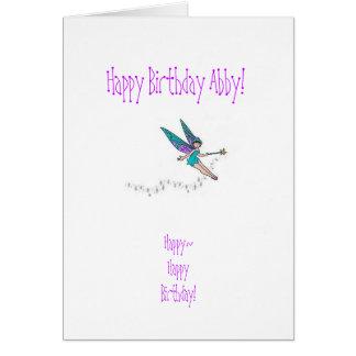 Tarjeta de cumpleaños de la sobrina