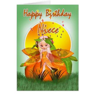 Tarjeta de cumpleaños de la sobrina - hada de la f