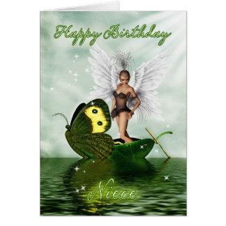 Tarjeta de cumpleaños de la sobrina - hada del cis