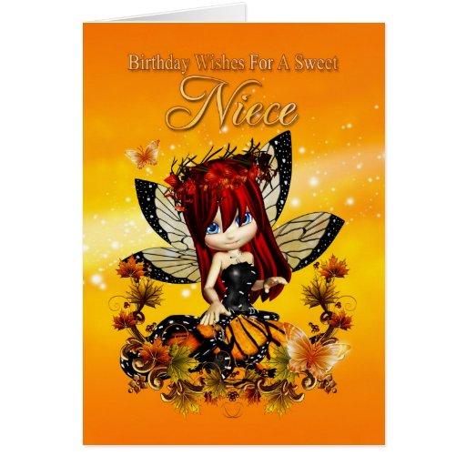 tarjeta de cumpleaños de la sobrina - hada del col