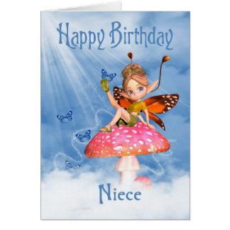 Tarjeta de cumpleaños de la sobrina - hada linda e