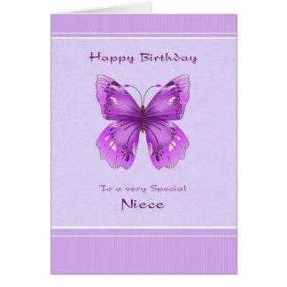 Tarjeta de cumpleaños de la sobrina - mariposa