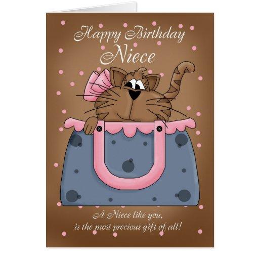 Tarjeta de cumpleaños de la sobrina - mascota lind