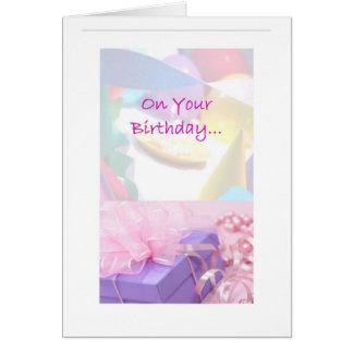 Tarjeta de cumpleaños de la sociedad del alivio