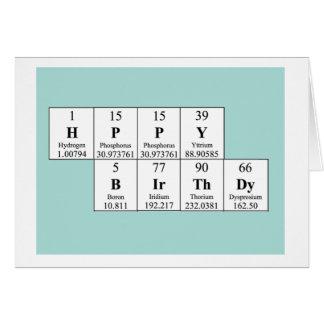 Tarjeta de cumpleaños de la tabla periódica