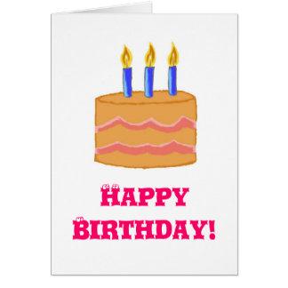 Tarjeta de cumpleaños de la torta del feliz cumple