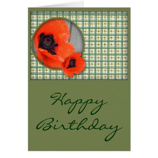 Tarjeta de cumpleaños de las amapolas (ampliación