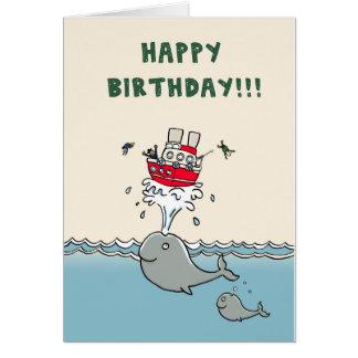 Tarjeta de cumpleaños de las ballenas