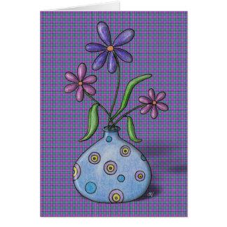 """Tarjeta de cumpleaños de las """"flores púrpuras"""""""