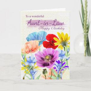 Invitaciones Y Felicitaciones Aunt En Tu Cumpleaños Tía Flores