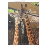 Tarjeta de cumpleaños de las jirafas para alguien