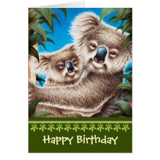 Tarjetas e invitaciones koala birthday for Piscina koala cumpleanos