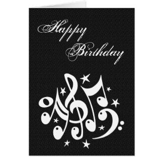 Tarjeta de cumpleaños de las notas musicales