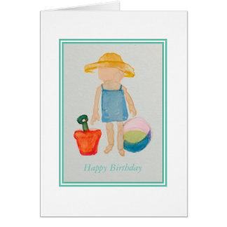 Tarjeta de cumpleaños de los chicas tarjeta de felicitación
