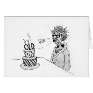 Tarjeta de cumpleaños de los dientes del vuelo