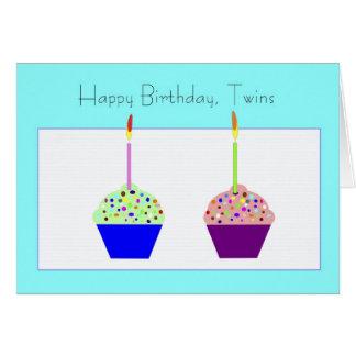 Tarjeta de cumpleaños de los gemelos