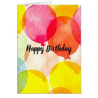 Tarjeta de cumpleaños de los globos