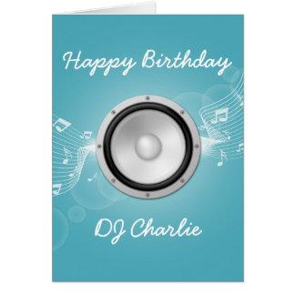 Tarjeta de cumpleaños de los músicos