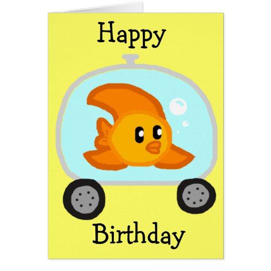Tarjeta de cumpleaños de los pescados 2,0