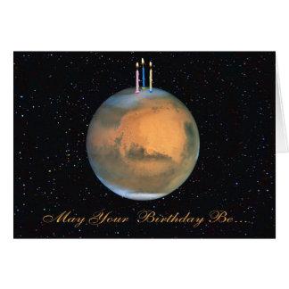 Tarjeta de cumpleaños de Marte del planeta