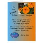 Tarjeta de cumpleaños de octubre - maravilla y ópa