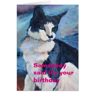 Tarjeta de cumpleaños de ojos azules de la