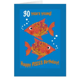Tarjeta de cumpleaños de Piscis de los Goldfishes