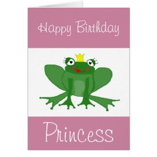 Tarjeta de cumpleaños de princesa Frog adaptable