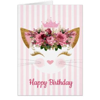 Tarjeta de cumpleaños de princesa Kitty
