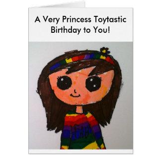 Tarjeta de cumpleaños de princesa Toytastic
