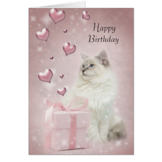 Tarjeta de cumpleaños de Ragdoll