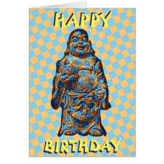 Tarjeta de cumpleaños de risa psicodélica de Buda