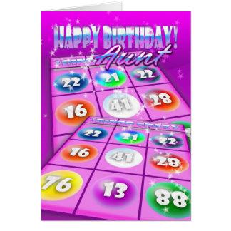Tarjeta de cumpleaños de tía Bingo Crazy