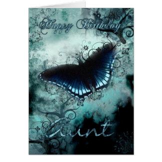 Tarjeta de cumpleaños de tía Butterfly - mariposa