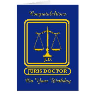 Tarjeta de cumpleaños del abogado J D