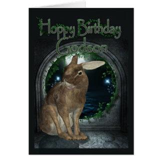 Tarjeta de cumpleaños del ahijado - cumpleaños de