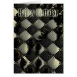Tarjeta de cumpleaños del ajedrez