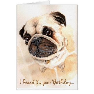 Tarjeta de cumpleaños del barro amasado