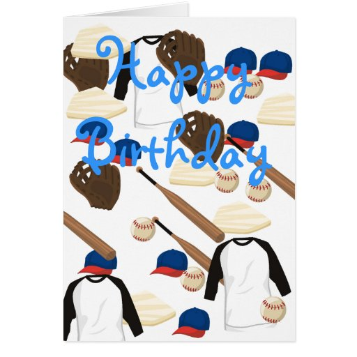 Tarjeta de cumpleaños del béisbol